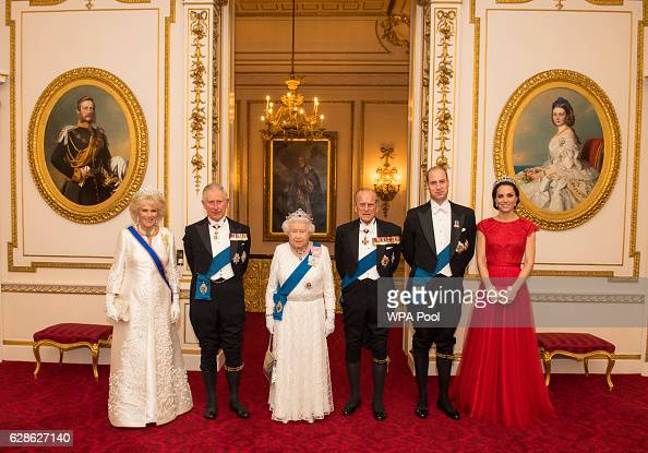 Camilla Duchess of Cornwall Prince Charles Prince of Wales Queen Elizabeth II Prince Philip Duke of Edinburgh Prince William Duke of Cambridge and...