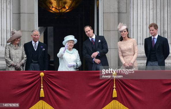 Camilla Duchess of Cornwall Prince Charles Prince of Wales Queen Elizabeth ll Prince William Duke of Cambridge Catherine Duchess of Cambridge and...
