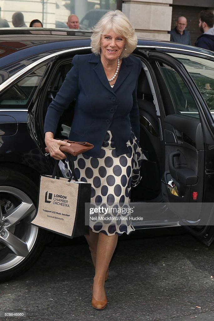 Camilla, Duchess of Cornwall seen at BBC Radio 2 on May 06, 2016 in London, England.