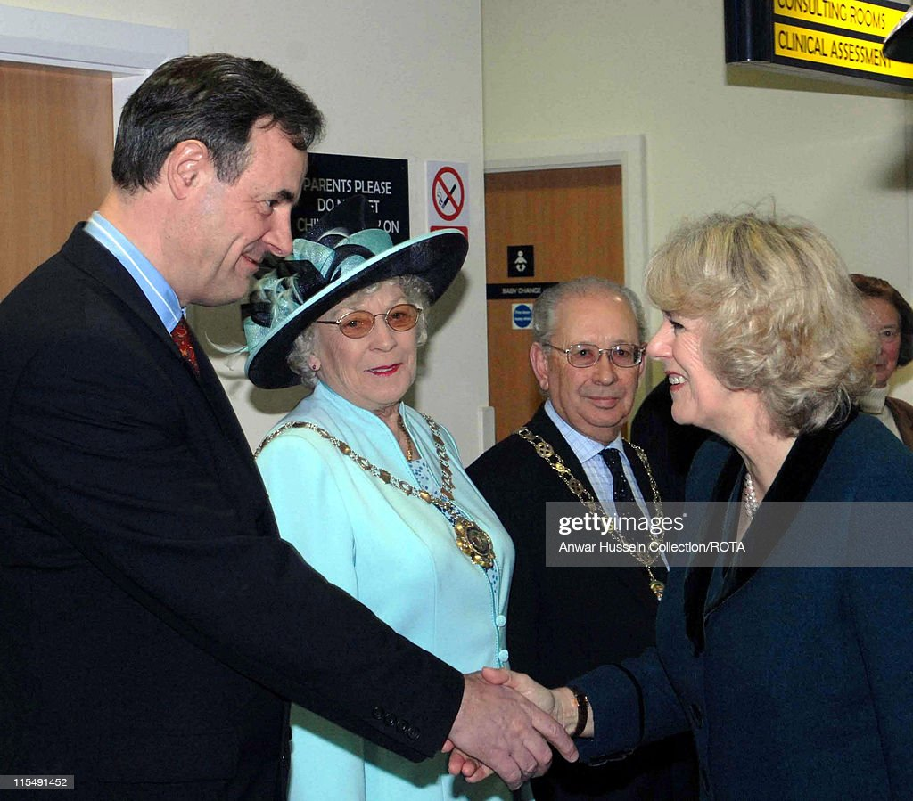 HRH <a gi-track='captionPersonalityLinkClicked' href=/galleries/search?phrase=Camilla+-+Duchess+of+Cornwall&family=editorial&specificpeople=158157 ng-click='$event.stopPropagation()'>Camilla</a>, Duchess of Cornwall shakes hands with North Wiltshire M.P. <a gi-track='captionPersonalityLinkClicked' href=/galleries/search?phrase=James+Gray&family=editorial&specificpeople=2479723 ng-click='$event.stopPropagation()'>James Gray</a>. <a gi-track='captionPersonalityLinkClicked' href=/galleries/search?phrase=Camilla+-+Duchess+of+Cornwall&family=editorial&specificpeople=158157 ng-click='$event.stopPropagation()'>Camilla</a>, who is president of the National Osteoporosis Society officially opened the Hathaway Medical Centre centre today.