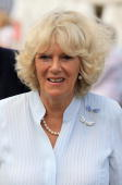 28 28 Camilla Duchess of Cornwall smiles as she attends Sandringham Flower Show in a carriage at Sandringham on July 28 2010 in King's Lynn England