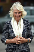 The Duchess Of Cornwall Visits Swindon Fire Station And...