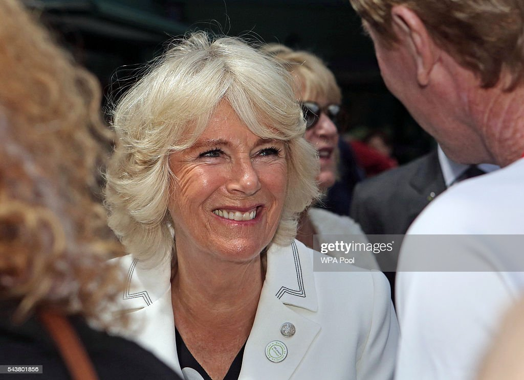 <a gi-track='captionPersonalityLinkClicked' href=/galleries/search?phrase=Camilla+-+Duchess+of+Cornwall&family=editorial&specificpeople=158157 ng-click='$event.stopPropagation()'>Camilla</a>, Duchess of Cornwall smiles during a visit to the Lawn Tennis Championships at the All England Lawn Tennis Club on June 30, 2016 in London, England.