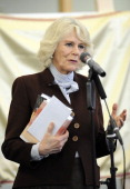 Camilla Duchess Of Cornwall speaks during a visit to St Catherine's School in Bramley Surrey on February 13 2014 in Guildford England
