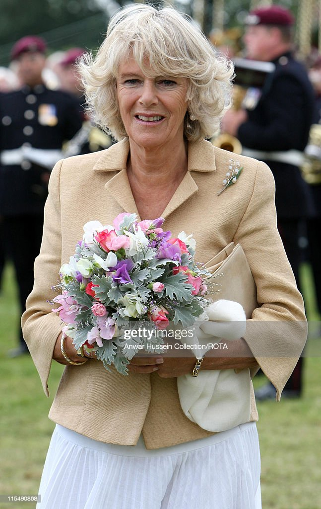 Camilla Duchess of Cornwall tours Sandringham Flower Show on the Sandringham Estate on July 25 2007 in Sandringham England