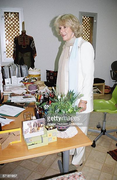 Camilla Duchess of Cornwal visits a charity organization for women on the sixth day of a 12 day official tour visiting Egypt Saudi Arabia and India...