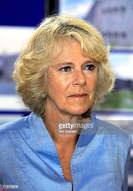 Camilla Duchess of Cornwall visits Cardigan Castle and the Garrison Chapel in Pembroke Dock on July 3 2006 in Wales
