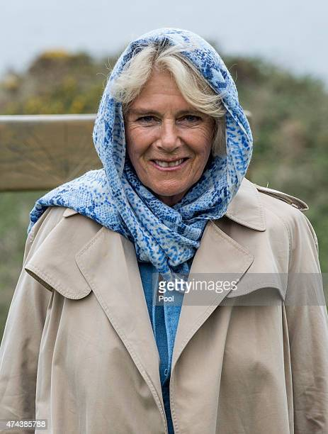 Camilla Duchess of Cornwall visits Corrymeela Community Ballycastle on May 22 2015 in Antrim Northern Ireland Prince Charles Prince of Wales and...