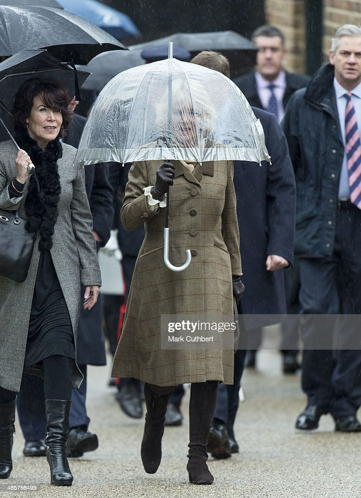 Camilla, Duchess of Cornwall visits High House Production Park, a world-class centre for technical skills, crafts and artistic production and training, during an official visit to Essex on January 29, 2014 in Purfleet, United Kingdom.