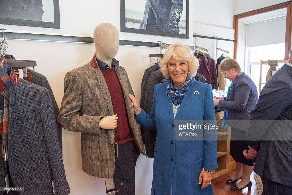 <a gi-track='captionPersonalityLinkClicked' href=/galleries/search?phrase=Camilla+-+Duchess+of+Cornwall&family=editorial&specificpeople=158157 ng-click='$event.stopPropagation()'>Camilla</a>, Duchess of Cornwall visits Magee of Donegal's Tweed Factory on May 25, 2016 in Letterkenny, Ireland. The royal couple are on a one day visit to Ireland having spent two days across the border in Northern Ireland. It is their first trip to Donegal.