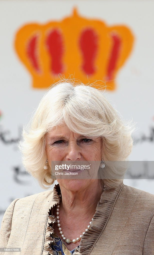 Camilla, Duchess of Cornwall visits Mahis School on the second day of a visit to the country on March 12, 2013 in Amman, Jordan. The Royal couple are on the first leg of a tour of the Middle East taking in Qatar, Saudia Arabia and Oman.