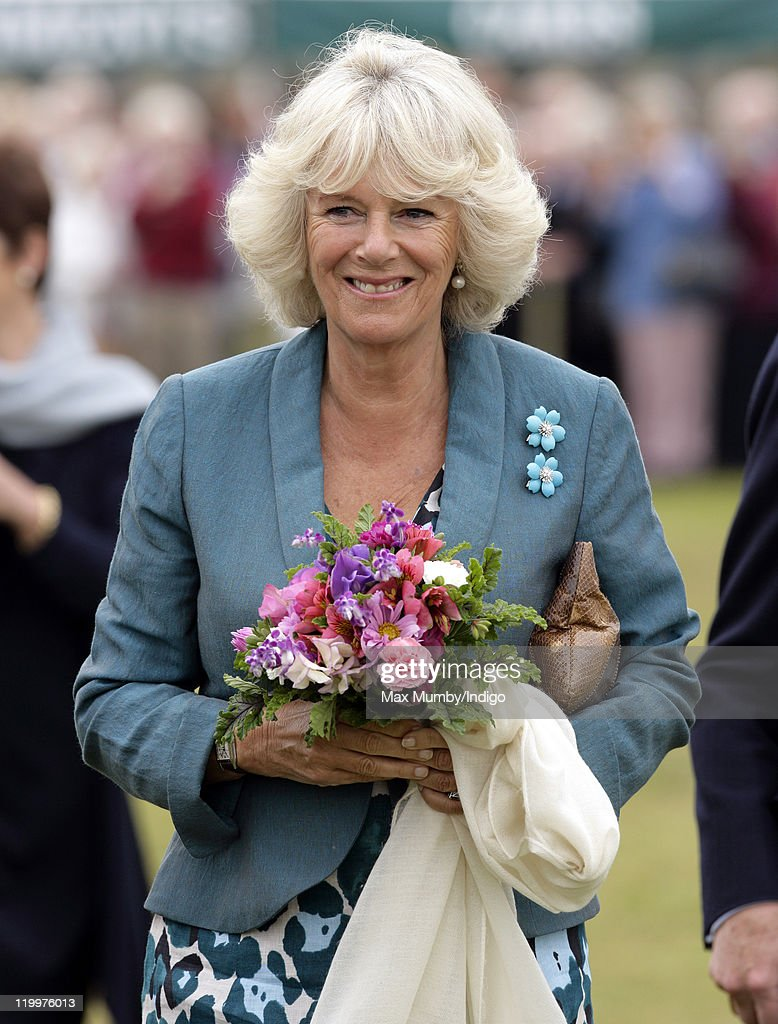 Camilla, Duchess of Cornwall visits the 130th Sandringham Flower Show on July 27, 2011 in Huntingdon, England.