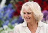 Camilla Duchess of Cornwall visits the 132nd Sandringham Flower Show at Sandringham House on July 31 2013 in King's Lynn England