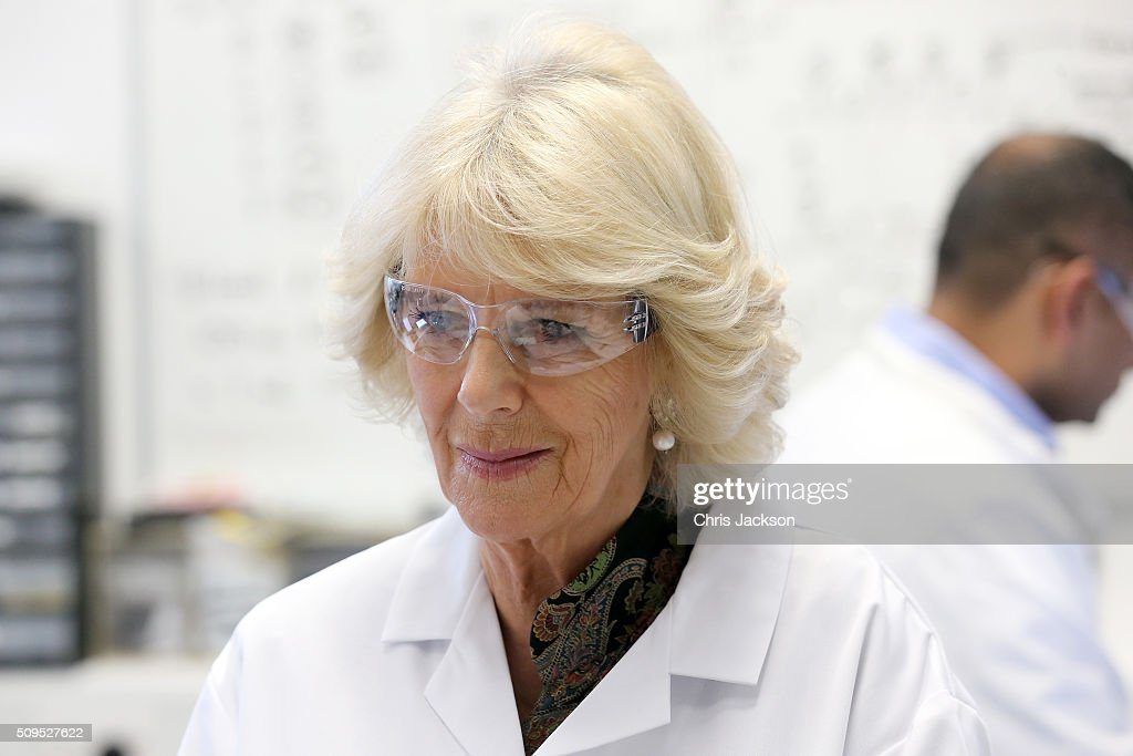 <a gi-track='captionPersonalityLinkClicked' href=/galleries/search?phrase=Camilla+-+Duchess+of+Cornwall&family=editorial&specificpeople=158157 ng-click='$event.stopPropagation()'>Camilla</a>, Duchess Of Cornwall visits the Hybrid Bio Devices Lab at the University Of Southampton where she was also awarded an Honourary Doctorate on February 11, 2016 in Southampton, England.