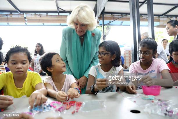 Camilla Duchess of Cornwall visits The Lost Food Project and Lighthouse Children's Welfare Centre during her visit on November 4 2017 in Kuala Lumpur...