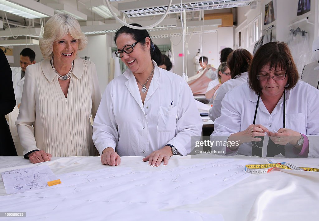 <a gi-track='captionPersonalityLinkClicked' href=/galleries/search?phrase=Camilla+-+Duchess+of+Cornwall&family=editorial&specificpeople=158157 ng-click='$event.stopPropagation()'>Camilla</a>, Duchess of Cornwall visits the workshop at the headquarters of Dior on May 28, 2013 in Paris France. <a gi-track='captionPersonalityLinkClicked' href=/galleries/search?phrase=Camilla+-+Duchess+of+Cornwall&family=editorial&specificpeople=158157 ng-click='$event.stopPropagation()'>Camilla</a> is on her first overseas solo engagement for a two day visit to Paris in support of the homeless charity EMMAUS of which she is patron.