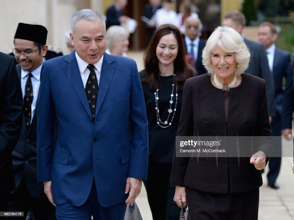 The Duchess Of Cornwall Visits Worcester College Oxford