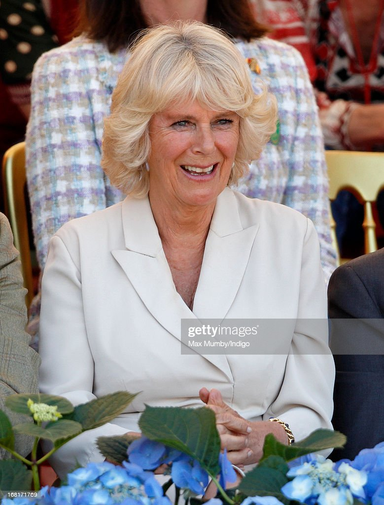 <a gi-track='captionPersonalityLinkClicked' href=/galleries/search?phrase=Camilla+-+Duchess+of+Cornwall&family=editorial&specificpeople=158157 ng-click='$event.stopPropagation()'>Camilla</a>, Duchess of Cornwall watches the show jumping phase of the Badminton Horse Trials on May 6, 2013 in Badminton, England.