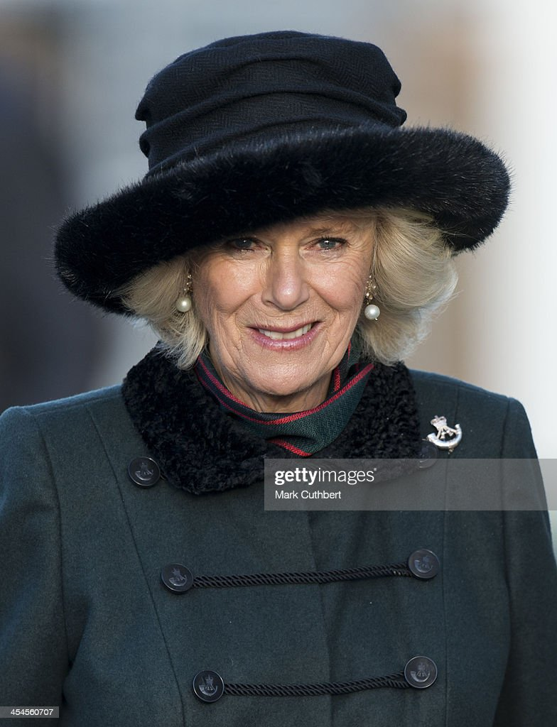 <a gi-track='captionPersonalityLinkClicked' href=/galleries/search?phrase=Camilla+-+Duchess+of+Cornwall&family=editorial&specificpeople=158157 ng-click='$event.stopPropagation()'>Camilla</a>, Duchess of Cornwall welcomes home the 4th Battalion The Rifles and presents medals on their return from Afghanistan on December 9, 2013 in Wiltshire, England.