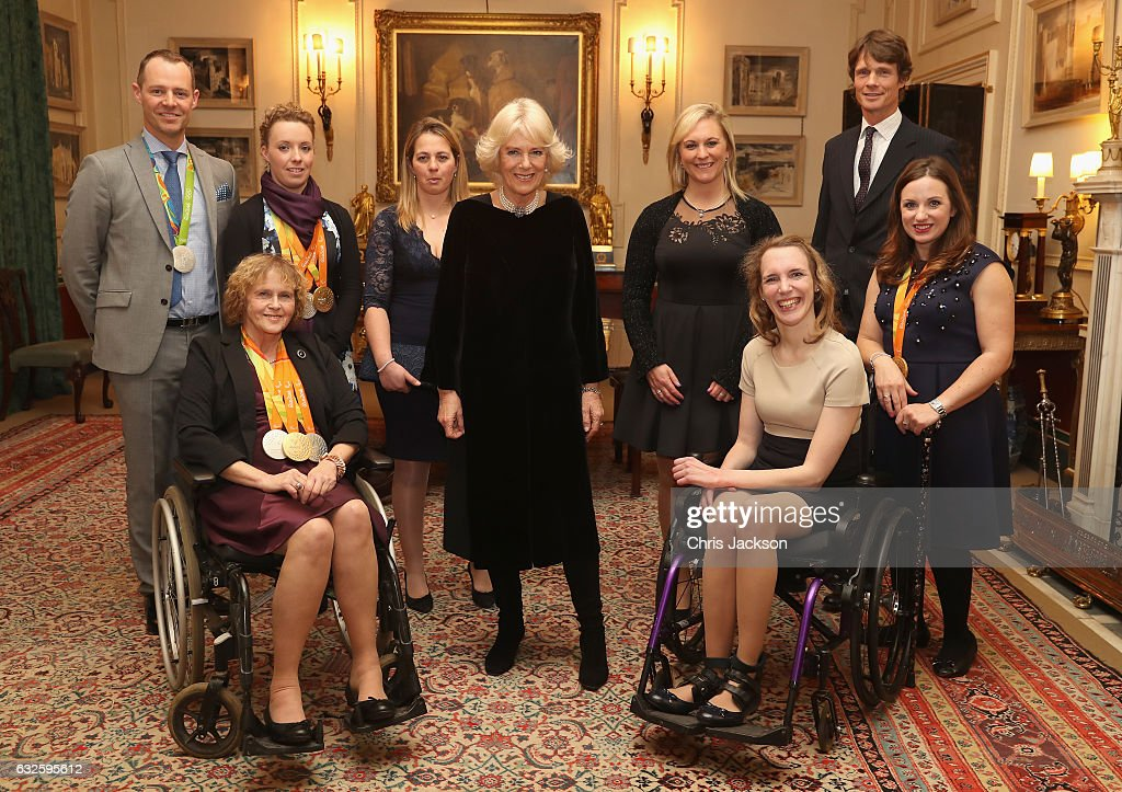 The Duchess Of Cornwall Hosts Reception For The British Equestrian Teams For The 2016 Olympic & Paralympic Games