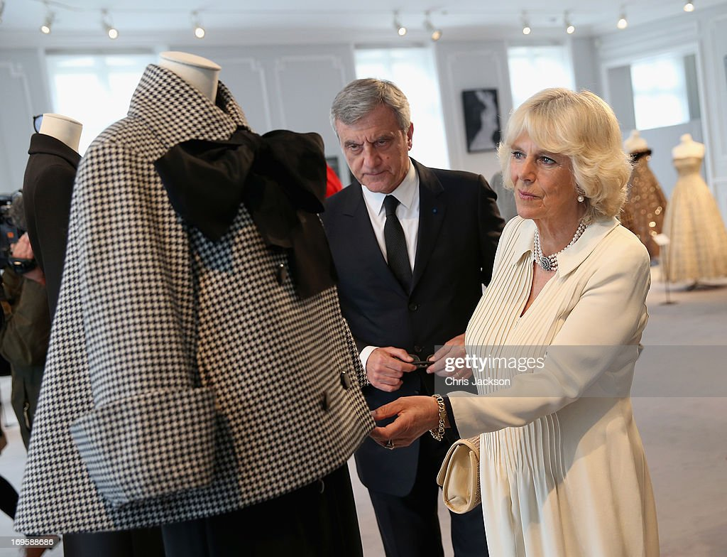 <a gi-track='captionPersonalityLinkClicked' href=/galleries/search?phrase=Camilla+-+Duchess+of+Cornwall&family=editorial&specificpeople=158157 ng-click='$event.stopPropagation()'>Camilla</a>, Duchess of Cornwall with <a gi-track='captionPersonalityLinkClicked' href=/galleries/search?phrase=Sidney+Toledano&family=editorial&specificpeople=758670 ng-click='$event.stopPropagation()'>Sidney Toledano</a>, CEO of Christian Dior, as she visits the headquarters of Dior on May 28, 2013 in Paris France. <a gi-track='captionPersonalityLinkClicked' href=/galleries/search?phrase=Camilla+-+Duchess+of+Cornwall&family=editorial&specificpeople=158157 ng-click='$event.stopPropagation()'>Camilla</a> is on her first overseas solo engagement for a two day visit to Paris in support of the homeless charity EMMAUS of which she is patron.
