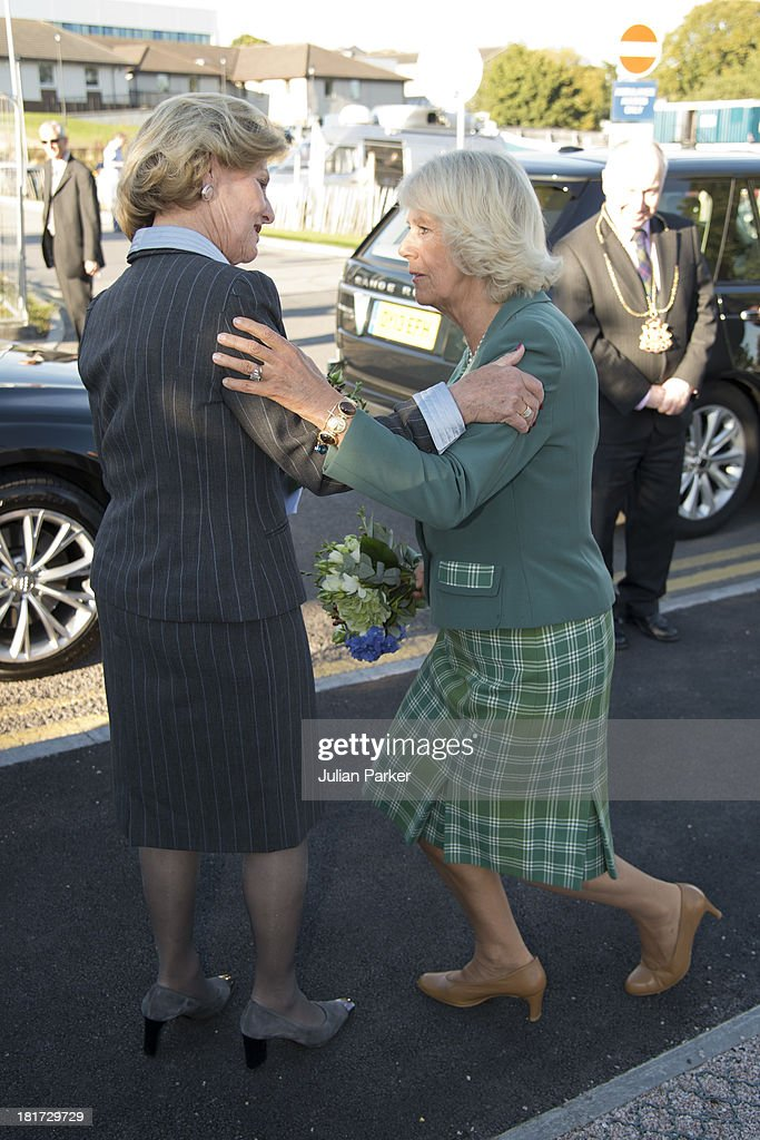 <a gi-track='captionPersonalityLinkClicked' href=/galleries/search?phrase=Camilla+-+Duchess+of+Cornwall&family=editorial&specificpeople=158157 ng-click='$event.stopPropagation()'>Camilla</a>, Duchess of Rothesay and <a gi-track='captionPersonalityLinkClicked' href=/galleries/search?phrase=Queen+Sonja+of+Norway&family=editorial&specificpeople=160334 ng-click='$event.stopPropagation()'>Queen Sonja of Norway</a> attend the official opening at Maggie's Cancer Caring Centre on September 23, 2013 in Aberdeen, Scotland.