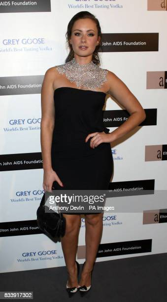 Camilla Fayed arrives at the Grey Goose Vodka and The Elton John AIDS Foundation VIP launch party One Piazza Covent Garden London