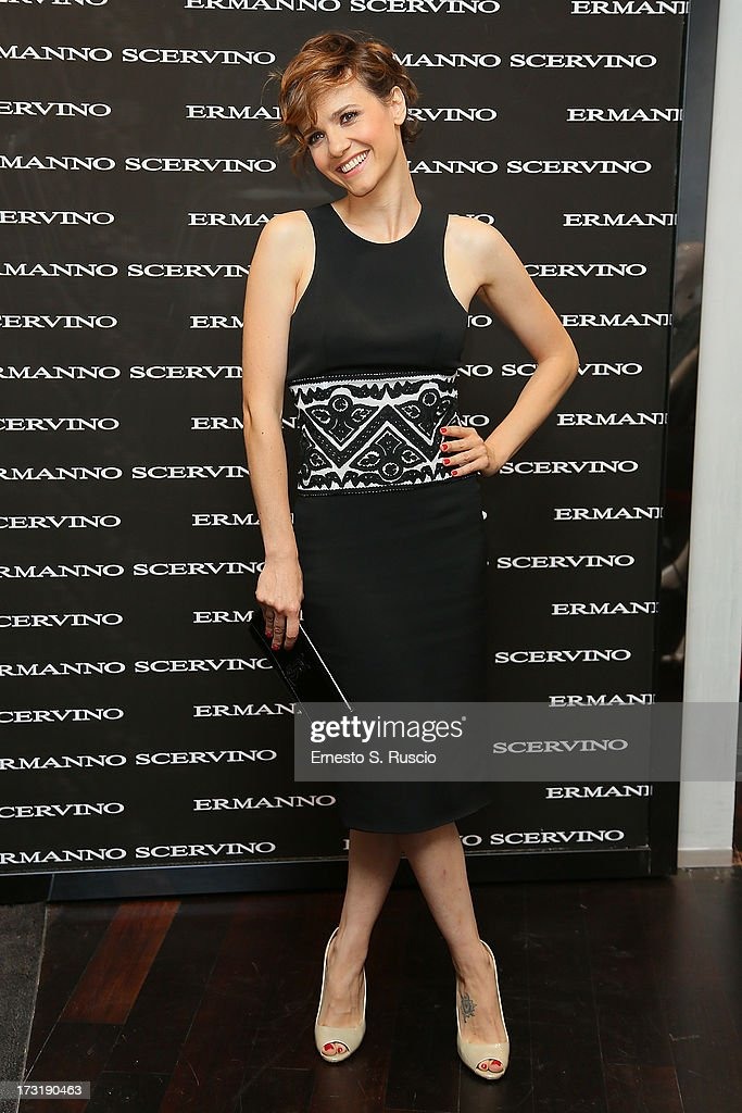 Camilla Filippi attends the Ermanno Scervino Store Opening as a part of AltaRoma AltaModa on July 9, 2013 in Rome, Italy.