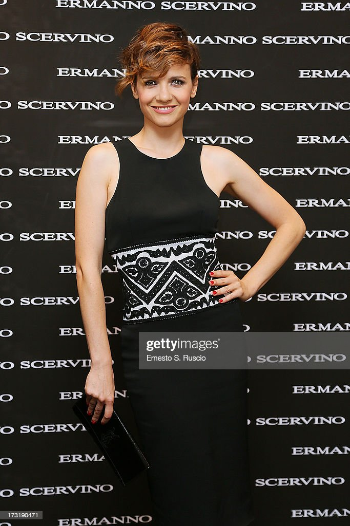 <a gi-track='captionPersonalityLinkClicked' href=/galleries/search?phrase=Camilla+Filippi&family=editorial&specificpeople=4184165 ng-click='$event.stopPropagation()'>Camilla Filippi</a> attends the Ermanno Scervino Store Opening as a part of AltaRoma AltaModa on July 9, 2013 in Rome, Italy.