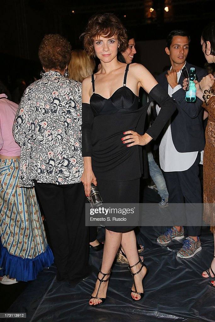 Camilla Filippi attends the Jean Paul Gaultier Couture fashion show as part of AltaRoma AltaModa Fashion Week Autumn/Winter 2013 on July 7, 2013 in Rome, Italy.