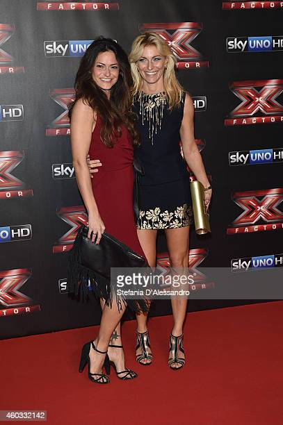 Camilla Fontana and Federica Fontana attend the X Factor TV Show Final on December 11 2014 in Milan Italy