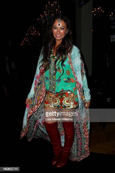 Camilla Franks poses during post show drinks at the David Jones A/W 2013 Season Launch at David Jones Castlereagh Street on February 6 2013 in Sydney...