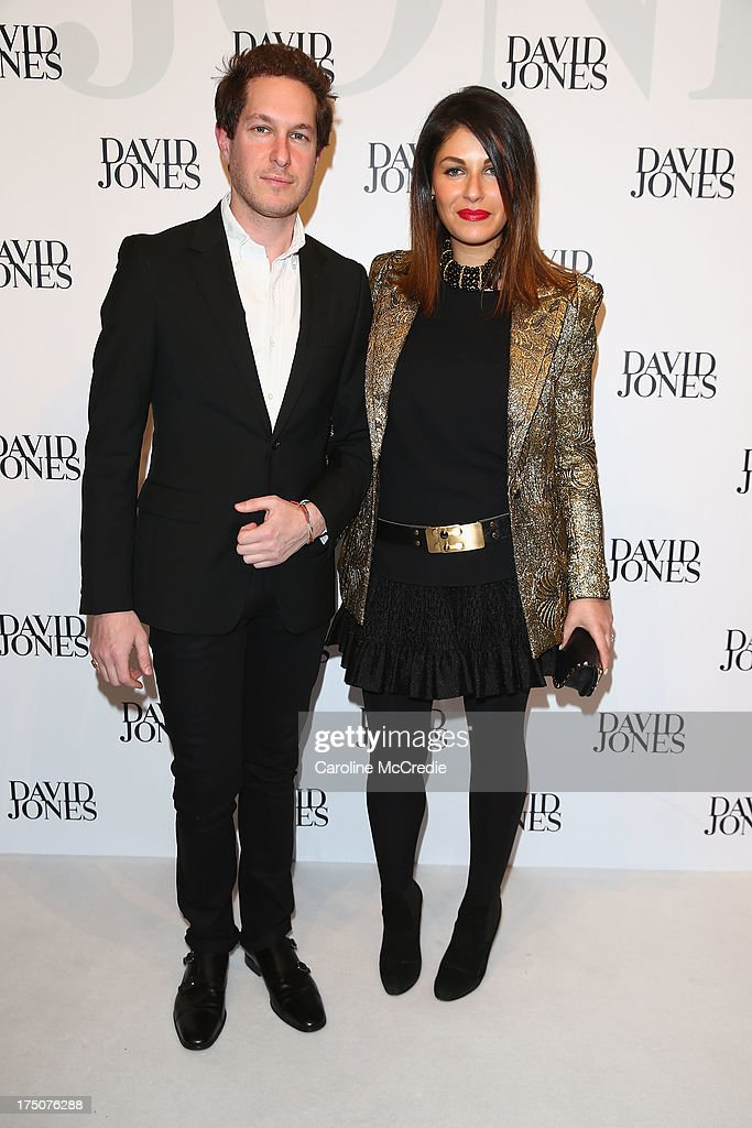 <a gi-track='captionPersonalityLinkClicked' href=/galleries/search?phrase=Camilla+Freeman&family=editorial&specificpeople=578400 ng-click='$event.stopPropagation()'>Camilla Freeman</a>-Topper and Marc Freeman arrives at the David Jones Spring/Summer 2013 Collection Launch at David Jones Elizabeth Street on July 31, 2013 in Sydney, Australia.
