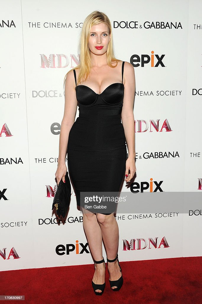 Camilla Hansen attends the Dolce & Gabbana and The Cinema Society screening of the Epix World premiere of 'Madonna: The MDNA Tour' at The Paris Theatre on June 18, 2013 in New York City.
