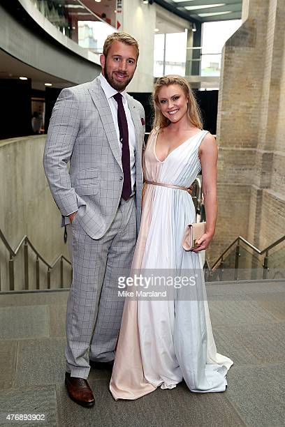 Camilla Kerslake and Chris Robshaw attend One For The Boys Fashion Ball hosted by Samuel L Jackson uniting men against cancer to kick start London...