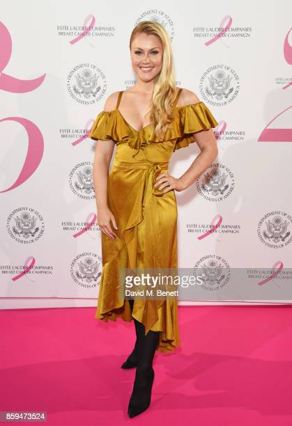 Camilla Kerslake attends the 25th Anniversary of the Estee Lauder Companies UK's Breast Cancer Campaign at the US Ambassadors Residence Winfield...