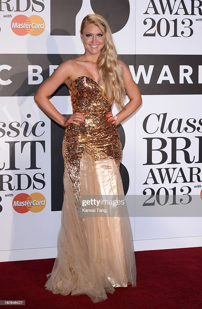 Camilla Kerslake attends the Classic BRIT Awards 2013 at Royal Albert Hall on October 2, 2013 in London, England.