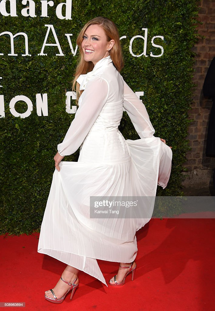 <a gi-track='captionPersonalityLinkClicked' href=/galleries/search?phrase=Camilla+Kerslake&family=editorial&specificpeople=6350983 ng-click='$event.stopPropagation()'>Camilla Kerslake</a> attends the London Evening Standard British Film Awards at Television Centre on February 7, 2016 in London, England.