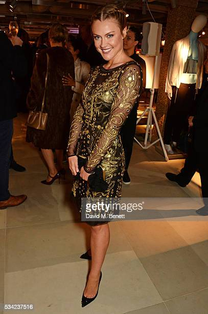Camilla Kerslake attends the London Evening Standard Londoner's Diary 100th Birthday Party in partnership with Harvey Nichols at Harvey Nichols on...