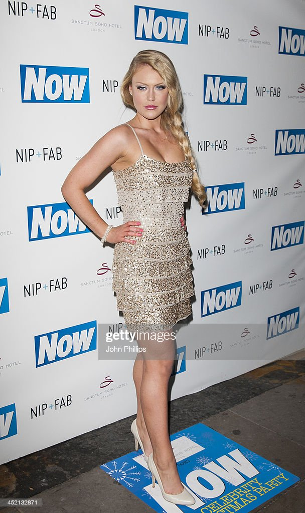 Camilla Kerslake attends the Now Magazine Christmas party at Soho Sanctum Hotel on November 26, 2013 in London, England.