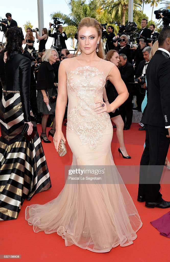 Camilla Kerslake attends 'The Unknown Girl ' Premiere during the 69th annual Cannes Film Festival at the Palais des Festivals on May 18 2016 in...
