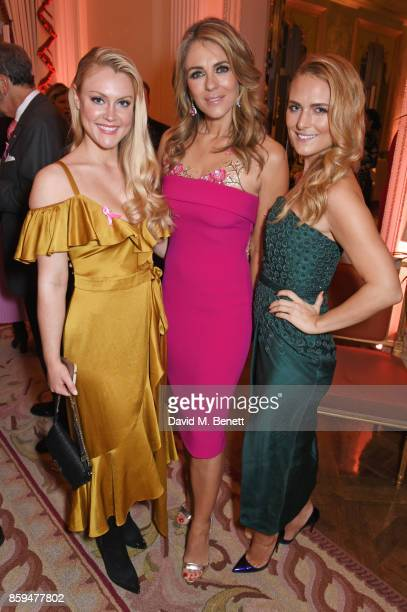 Camilla Kerslake Elizabeth Hurley and Francesca Dutton attend the 25th Anniversary of the Estee Lauder Companies UK's Breast Cancer Campaign at the...