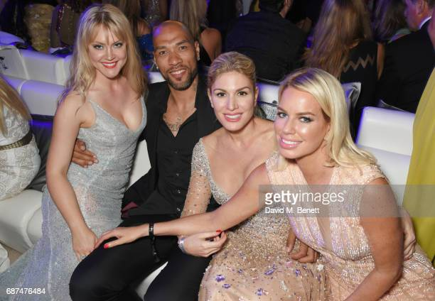 Camilla Kerslake John Carew Hofit Golan and Caroline Stanbury attend the de Grisogono 'Love On The Rocks' party during the 70th annual Cannes Film...
