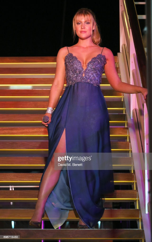 Camilla Kerslake performs at a charity gala evening and performance of the play 'A Life-Long Pas' in honour of Rudolf Nureyev and Dame Margot Fonteyn, held by Club Eclectique & It's founders Anna Nasbina & Yulia Polvida, at The Yacht Club De Monaco on June 16, 2017 in Monaco, Monaco.