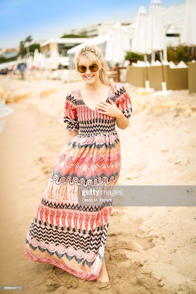 Camilla Kerslake Beach Style At Nikki Beach - 70th Annual Cannes Film Festival