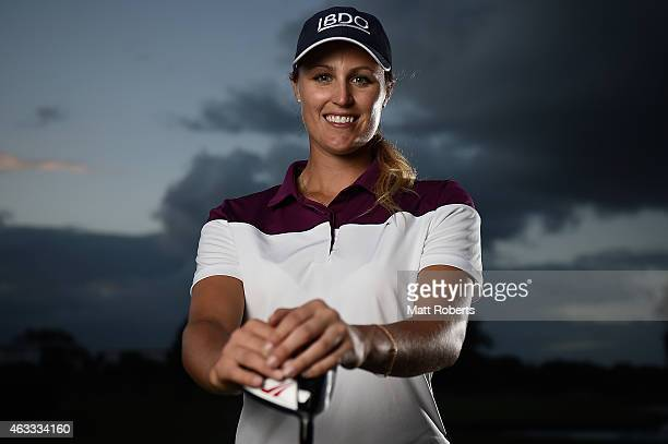 Camilla Lennarth of Sweden poses for a photgraph during day two of the 2015 Ladies Masters at Royal Pines Resort on February 13 2015 on the Gold...