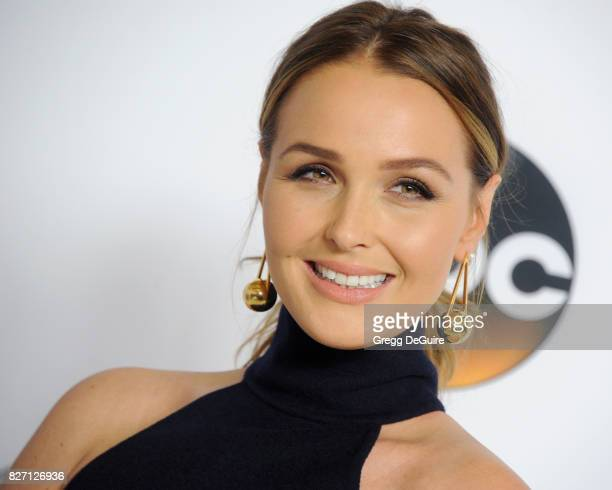 Camilla Luddington arrives at the 2017 Summer TCA Tour Disney ABC Television Group at The Beverly Hilton Hotel on August 6 2017 in Beverly Hills...