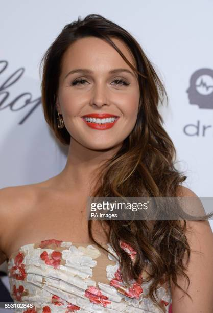 Camilla Luddington arrives for the Elton John AIDS Foundation's 22nd annual Academy Awards Viewing Party at West Hollywood Park in Los Angeles