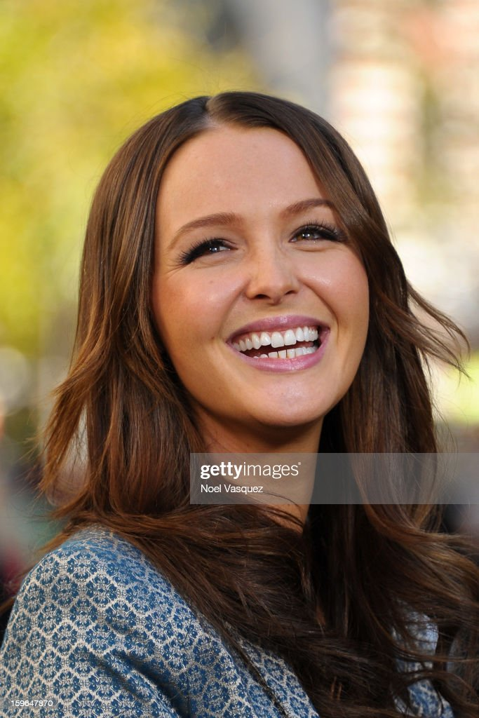 Camilla Luddington visits Extra at The Grove on January 17, 2013 in Los Angeles, California.