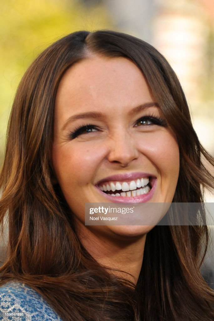 <a gi-track='captionPersonalityLinkClicked' href=/galleries/search?phrase=Camilla+Luddington&family=editorial&specificpeople=7718549 ng-click='$event.stopPropagation()'>Camilla Luddington</a> visits Extra at The Grove on January 17, 2013 in Los Angeles, California.